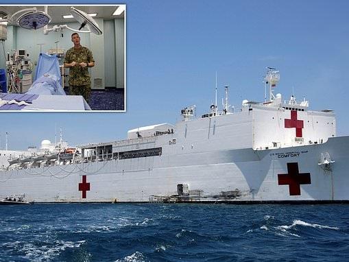 Giant US Navy hospital ship arrives in Columbia to help thousands of migrants fleeing Venezuela
