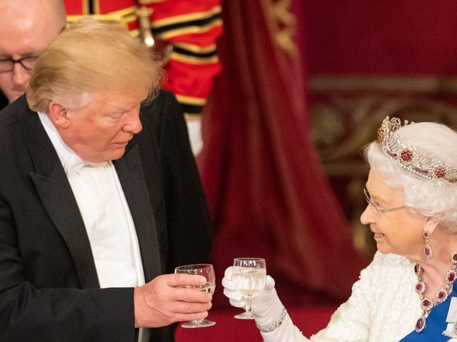 The queen just took a subtle jab at Trump's attacks on US allies while standing next to the president