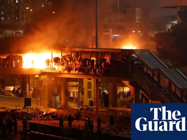 Fire, rocks and teargas fly in day of battle at Hong Kong university