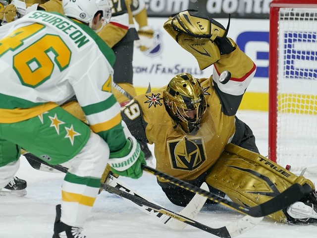 Vegas completes two-game sweep, beating Wild 5-1