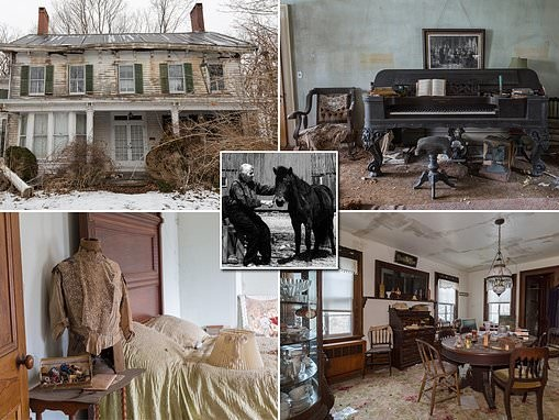 Pictures unveil incredible abandoned 1860s Long Island Farmhouse full of eerie family portraits