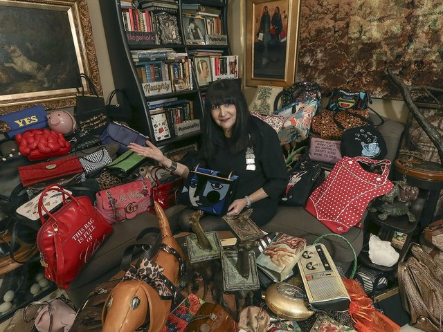 She owns 3,000 handbags, and keeps them in an army bunker
