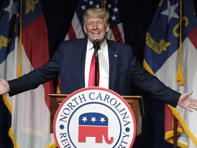 Trump returns to stage with speech at North Carolina GOP convention, teases 2024 run