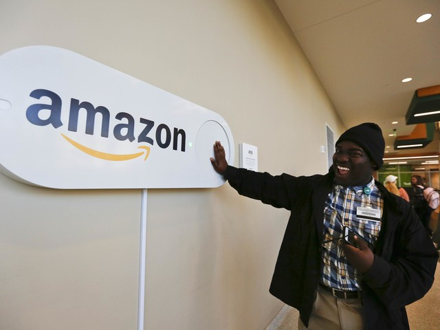 Wooing Amazon with sun, fun ... and giant buttons