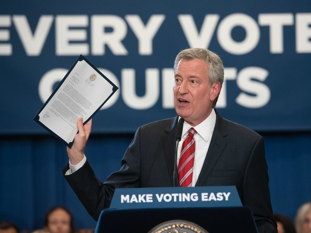 De Blasio Offers City Board of Elections $75 Million for Early Voting (With a Catch)