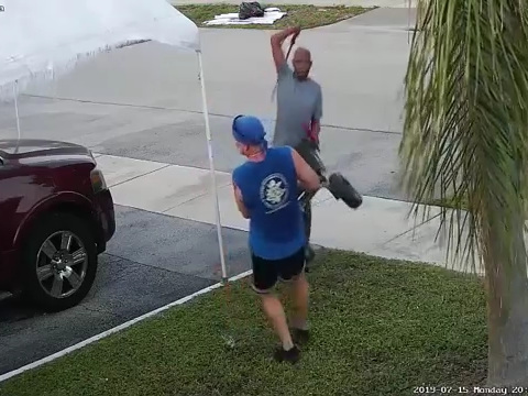 Florida man swings sword at jogger during fight over pile of trash