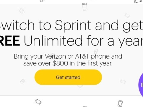 Switch to Sprint, Get One Year of Free Cell Service (Unlimited Talk, Text, Data Plan)
