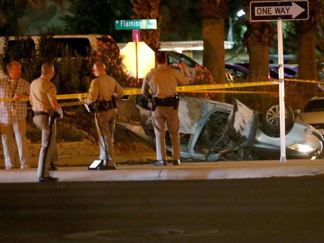 Coroner identifies 1 of 3 victims killed in Las Vegas crash