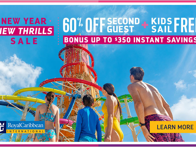 Bonus instant savings up to $350 on Royal Caribbean cruises booked this weekend