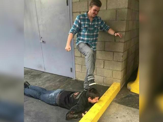 Disturbing photo shows accused Ivy League killer pretending to crush friend's skull