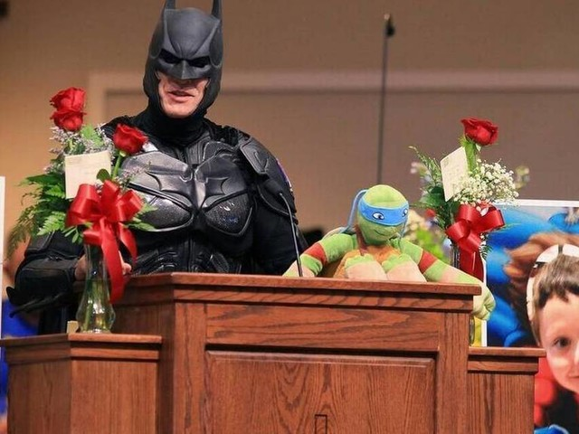 Batman is returning to SC to attend another child's funeral