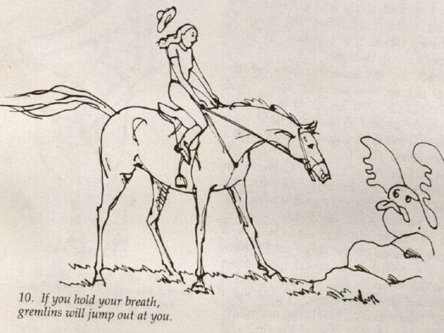 Check Out the Trippy Illustrations in This Horseback Riding Manual