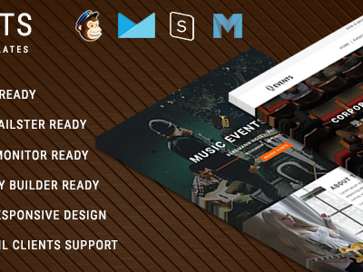 EVENTS - Multipurpose Responsive Email Templates With Online StampReady Builder Access (Newsletters)