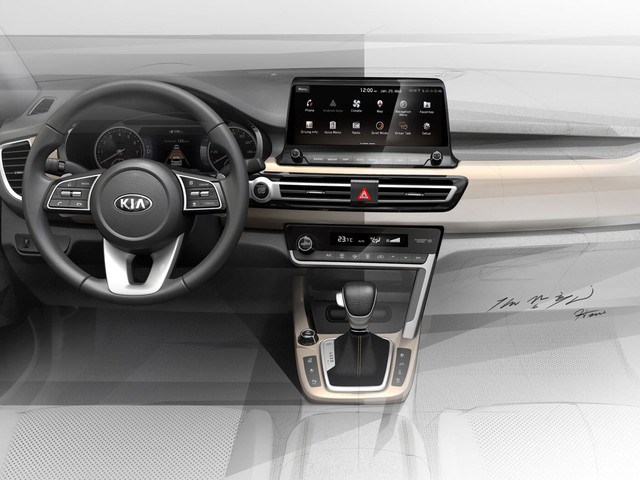 Kia's New Small SUV Interior Surfaces In Official Sketches