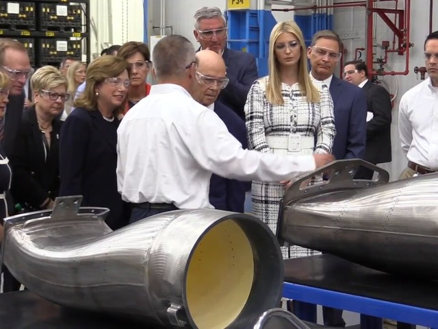 Ivanka Trump, Commerce Sec.Ross tour Charlotte facility