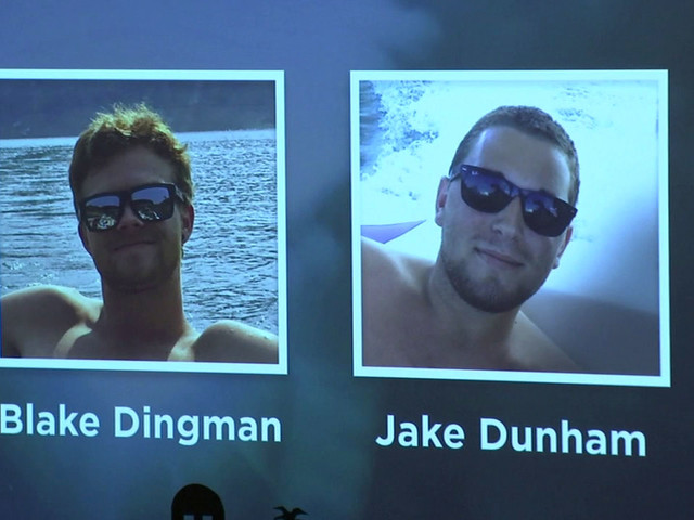 Blake Dingman and Jake Dunham, who were killed in Thousand Oaks shooting, honored at memorial