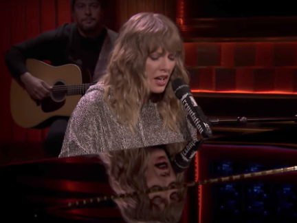 "Watch Taylor Swift Sing ""New Year's Day"" In Surprise Fallon Performance"
