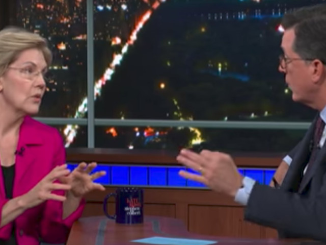 Stephen Colbert calls out Elizabeth Warren for her deceptive answers about raising middle class taxes