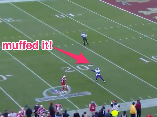 The Vikings lost their best chance to get back in their playoff game against the 49ers when they muffed a punt
