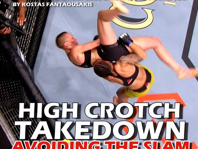 MMA technique: High crotch takedown slams and how to avoid them