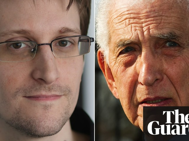 'Is whistleblowing worth prison or a life in exile?': Edward Snowden talks to Daniel Ellsberg