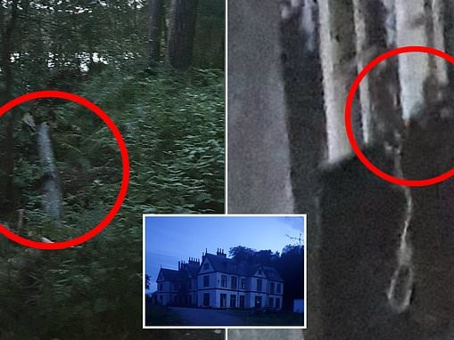Ghost hunters share images of a shadowy figure standing by a noose and footage of 'screaming' noises