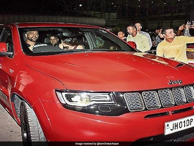 """MS Dhoni Spotted Driving His """"Red Beast"""" For The First Time"""
