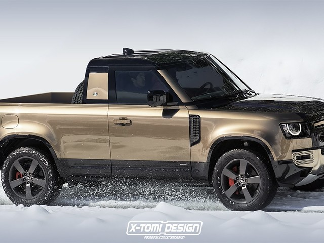 """A 2020 Land Rover Defender Pickup Truck? We Say """"Yes, Please, With Sugar on Top"""""""