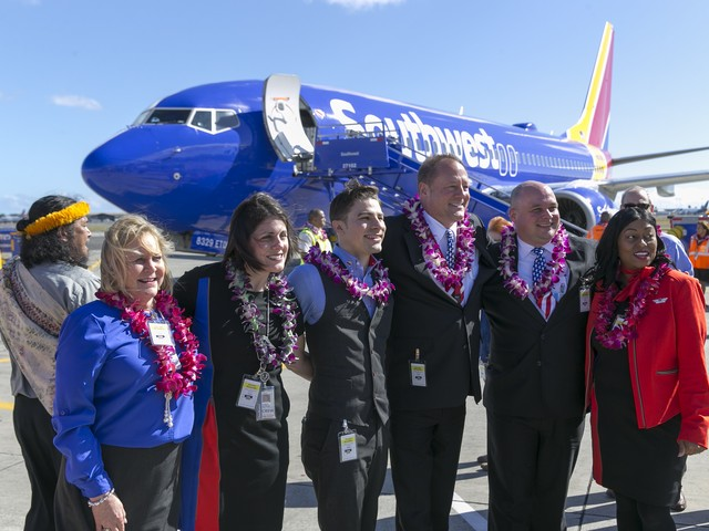 See the Pictures: Southwest's First Hawaii Test Flight Lands in Honolulu