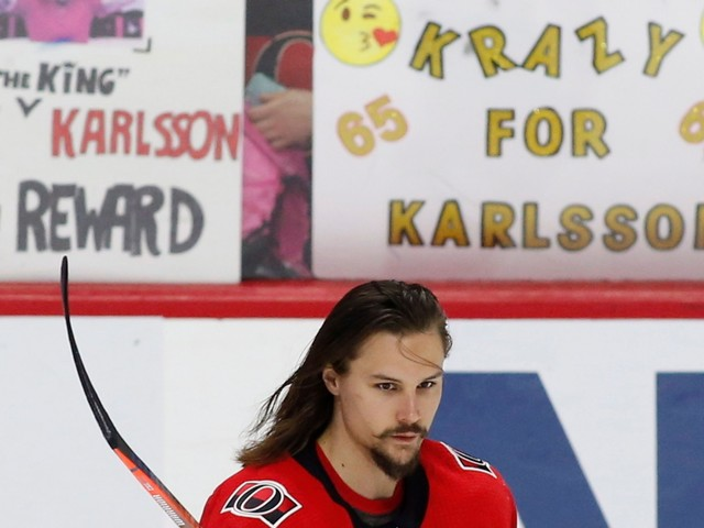 Karlsson not expected to rejoin Senators for final 2 games
