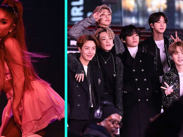 Ariana Grande Shares GRAMMY Rehearsal Pic With BTS and Fans Can't Keep Their Cool