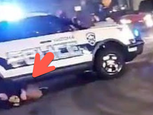 Tacoma Police Cruiser Plows Through Crowd At Illegal Street Race