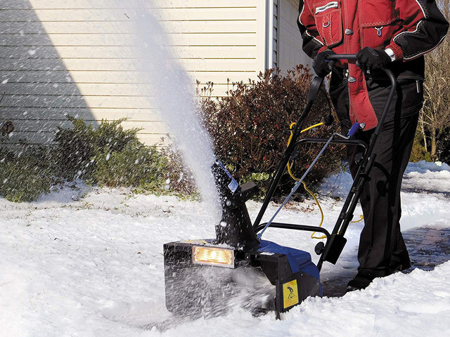 Winter weather is no match for this Snow Joe electric snowblower, down to $105 today on Amazon