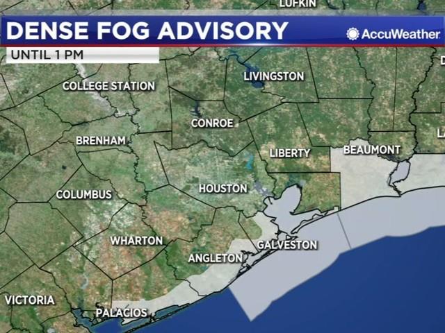 Dense Fog Advisory extended until 1 p.m.