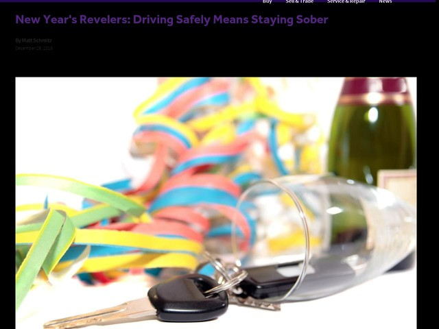 New Year's Revelers: Driving Safely Means Staying Sober