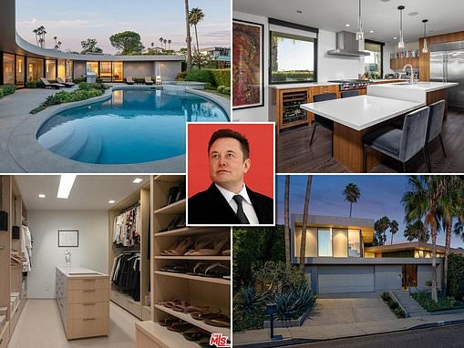 Elon Musk puts his Los Angeles home on the market for $4.5 million