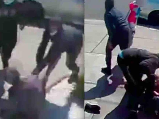 VIDEO: Teens knock down 80-year-old Asian man, punch and slap and rob him — all amid high-pitched giggles as victim cries out for help