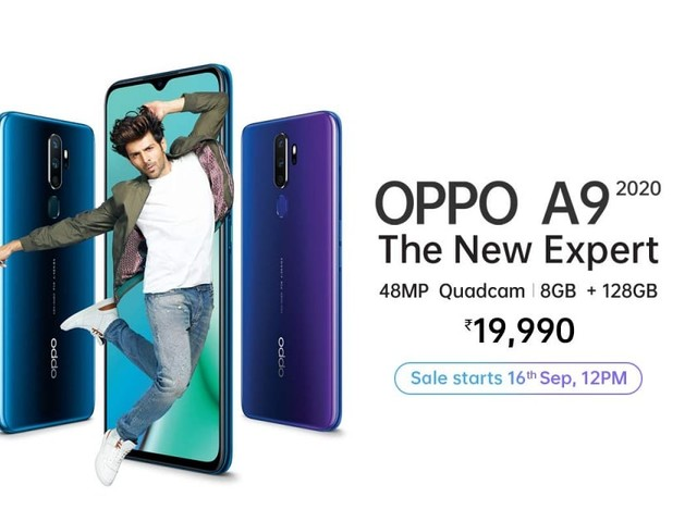 Oppo A9 2020 Goes on Sale in India Today via Amazon at 12 Noon