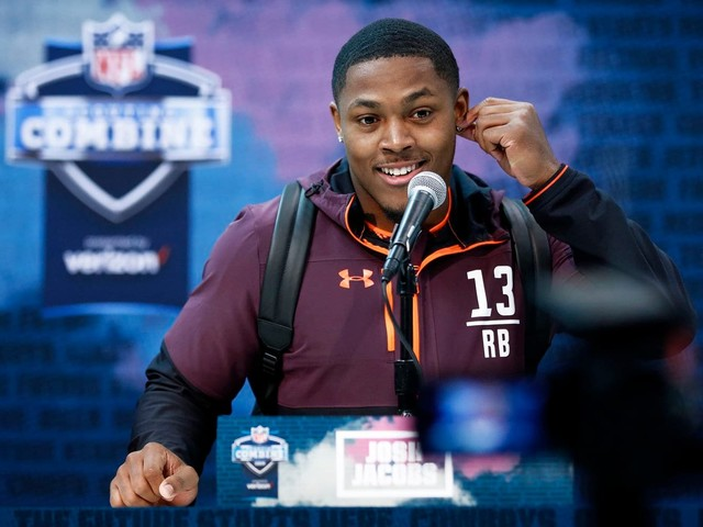 Josh Jacobs was homeless in middle school. This week he could become an NFL first-round pick.