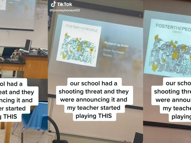 'You better run faster than my bullet': Teacher plays 'Pumped Up Kicks' in classroom during school shooting threat