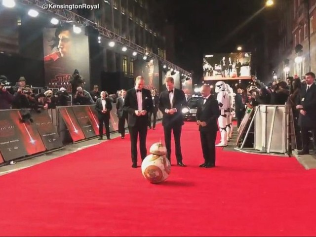 WATCH: Prince William and Prince Harry attend premiere of 'Star Wars: The Last Jedi'