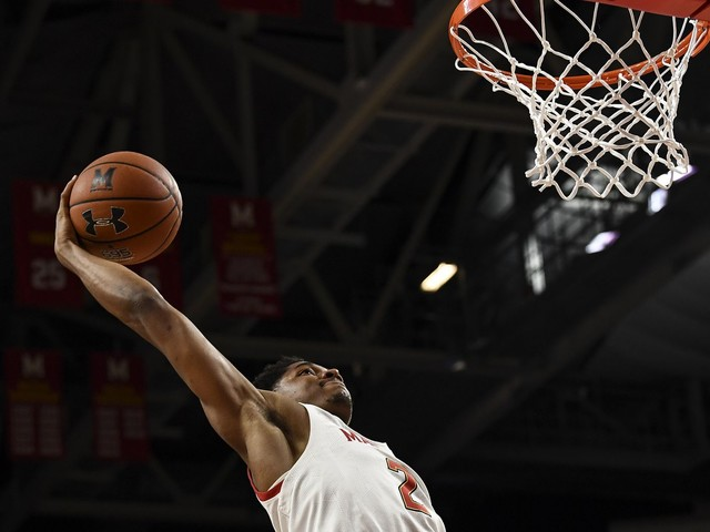 Aaron Wiggins has become stronger and more confident, but Maryland wants more