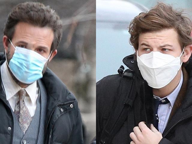 Ben Affleck & Tye Sheridan Stay Safe on Set of 'The Tender Bar' in Boston