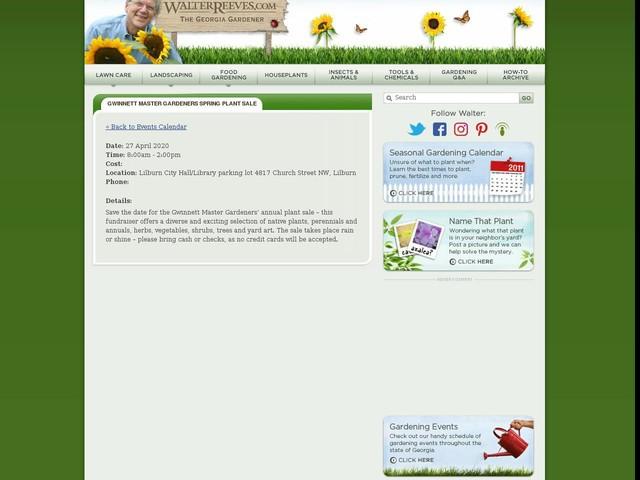 Gwinnett Master Gardeners Spring Plant Sale