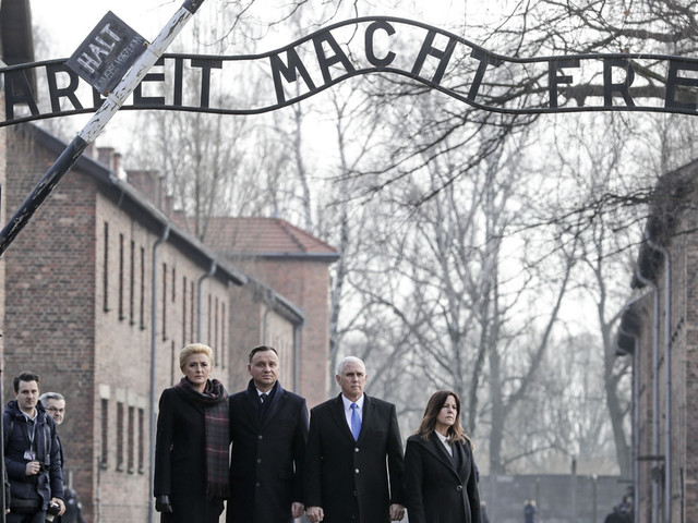 US vice president Pence makes his 1st visit to Auschwitz