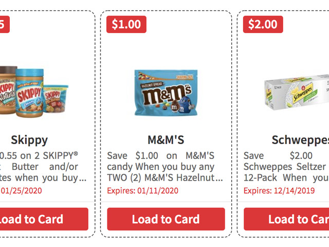 Over $100 in New ShopRite eCoupons – Save on Skippy, M&M's, Schweppes & More