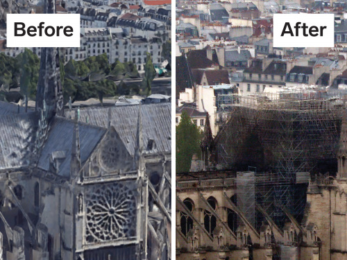 This graphic shows all that was destroyed — and what's still standing — following the Notre-Dame Cathedral fire