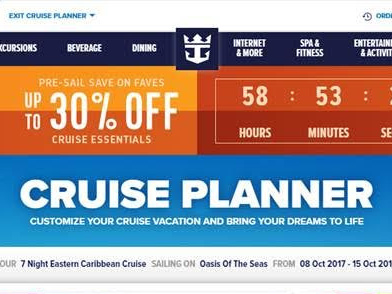 Spotted: Royal Caribbean offering up to 30% off pre-cruise purchases in Cruise Planner