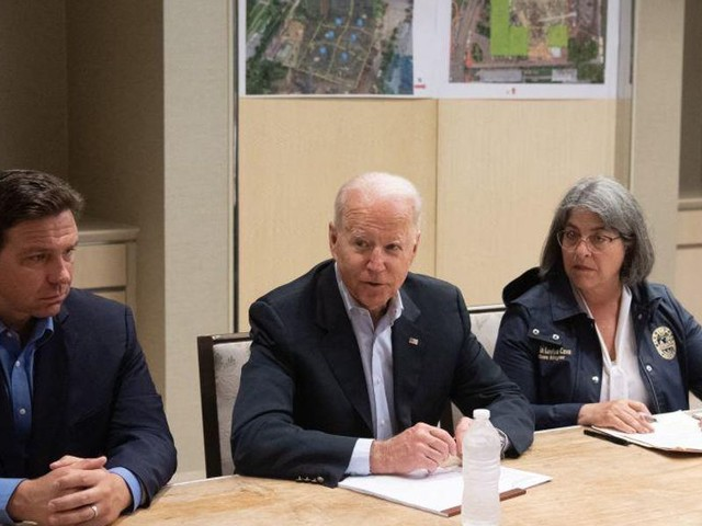 While in Florida, Biden says federal government will cover 100% of cost of Surfside building collapse and rescue efforts