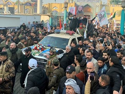 "Mourners Chant ""Death To America!"" As Multi-Day Funeral Procession For Soleimani Begins"